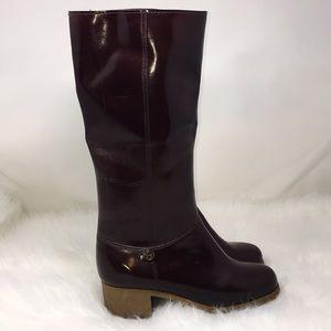 Vintage Etienne Aigner Maroon  Rain Boots